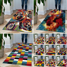 Modern Multi Colour Hand Carved Rug Living Room Bedroom Carpet Floor Runner Mat