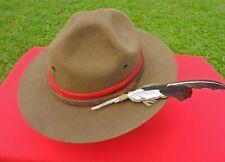 Vtg Montana Peak, Campaign, Fur Felt Smokey Bear Hat Custom Band Size 71/4-7 3/8