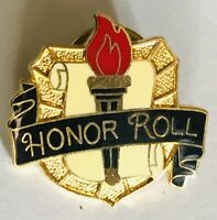 Honor Roll Student School Pin Badge Rare Vintage (C14)