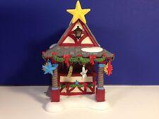 Dept 56 Alpine Village Christmas Market Tree Topper Booth w/ box Combine Ship!