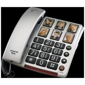 Amplicomms BigTel Festnetztelefon silber Grosstasten Seniorentelefon