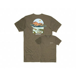 Simms Underwood River T-Shirt Men's Size XL New with Tags NWT Olive Heather