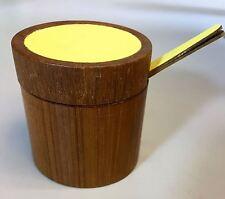 Vintage Jelly Jam Jar Dish Digsmed Denmark Danish Modern Teak Wood 1960's