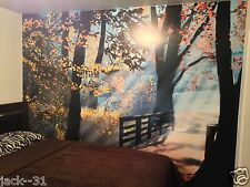 Mural wall sticker - FOREST enchanted - 11.5 pi x 8 pi - painting island anime