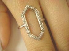 !GORGEOUS LADIES DIAMOND RING 14K WHITE GOLD  0.36 CARAT T.W. 2.7 GRAMS