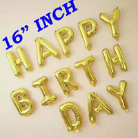 LARGE HAPPY BIRTHDAY SELF INFLATING BALLOONS BANNER BUNTING PD PARTY DECORATION