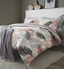 Fusion Tropical Print Reversible Duvet Cover Set Copper King