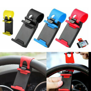 Car Steering Wheel Bike Clip Mount Holder Stand Cradle for Mobile Cell Phone GPS