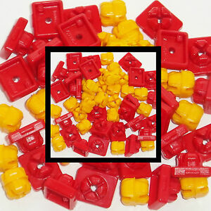 * PLAYMOBIL * 50 x RED / YELLOW SYSTEM-X CONNECTORS * SPARES * SPARE PARTS *