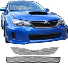 CCG 11-13 SUBARU IMPREZA WRX GRILL GRILLE MESH 2 PIECE KIT BLACK POWDER COAT