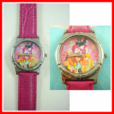 NEW Winx Club Kids Girl Child Fashion Pink Wrist Watch Wristwatch + Badge