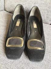 Gabor Ladies Shoes 7 Work Smart Mid Block Heel Evening Party Suede Worn Once