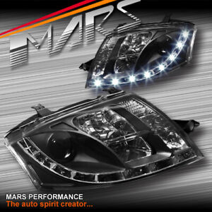 Day-Time DRL LED Projector Black Head Lights for AUDI TT 99-05 8N RS S-line