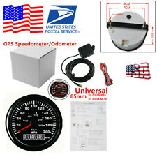 85mm 200MPH Red LED Black Bezel GPS MPH Kmh Analogue Speedometer Digital Gauge