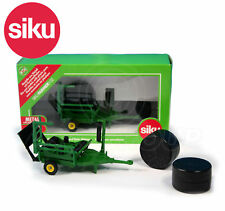 SIKU NO.2266 1:32 GREEN ROUND BALE WRAPPER WITH 2 BLACK BALES Dicast Model / Toy