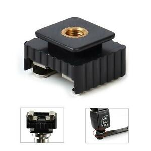 "Flash Cold Hot Shoe Mount Adapter 1/4"" Studio Tripod Light Stand Bracket Thread"