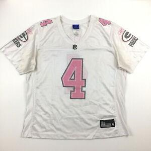 Green Bay Packers Womens Jersey Pink Brett Favre #4 Reebok NFL Football Size XL