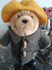 Harrods London Paddington Bear Plush Teddy Bear Green Coat Yellow hat