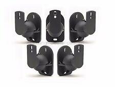 5 Pack Lot Universal Satellite Speaker Black Wall Mount Brackets fits Bose Sony