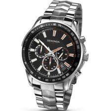 Sekonda 3507 Gents Quartz Black Dial Chronograph Bracelet Watch
