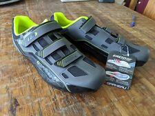 Garneau shoes HRS-80 chrome size 12.5 gray neon green biking shoes. Air bonded