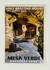 Mesa Verde National Park - Retro Ranger Postcard by Impact (Balcony House)