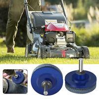 2Pc Lawn Mower Sharpener Faster Blade Grinding Power Drill Garden Tool Universal