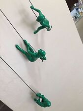Climbing man GREEN wall art decor! New Design. Bigger. Heavier. X 3 PCS