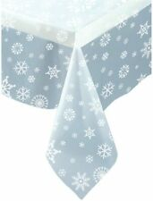 Snowflakes Christmas Tablecover Tablecloth Clear Frozen Party Decorations Snow