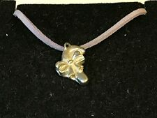"""Candy Cane TG198 English Pewter On 18"""" Purple Cord Necklace"""