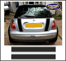 MINI COOPER & 'S' RACING BOOT BLACK STRIPES - FIT THE BEST!  DESIGNER STRIPES