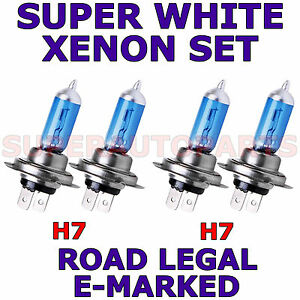 ALFA ROMEO 4C (2013 onwards) set H7 h7 HALOGEN XENON SUPER WHITE LIGHT BULBS