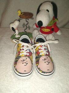RARE🔥 VANS x Peanuts Charlie Brown & The Gang Snoopy Era Sneakers toddler SZ 8