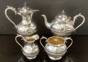 Superb 4 Piece Silver Plated Tea Set By James Deakin & Son