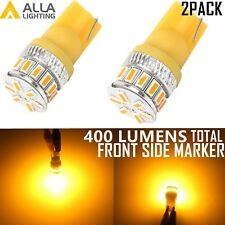 Alla Lighting 2x T10 Amber Yellow LED Side Marker Lights Bulbs 194 168 2825 W5W