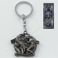 Alien vs Predator Requiem Warrior Hunter Metal Pendant Key Ring Chain New In Box