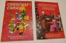 2 Whitman Christmas Carols Piano Arrangements w/Chord Symbols For Organ & Guitar