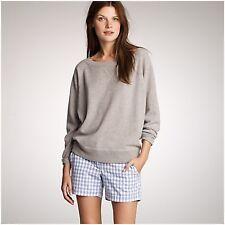 J. Crew Women's Size 0 Blue White Gingham Checkered Plaid Sonoma Shorts