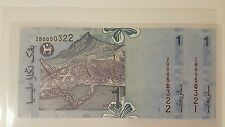 CCY~RM1 ZB00 x 2 PCS Replacement Zeti, New Malaysia Rare BANKNOTE,UNC,NR!!!!2 ze