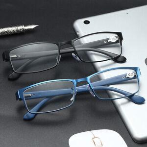 Business Reading Glasses Metal Rectangle Readers 1.0 1.5 2.0 2.5 3.0 3.5 DFA785