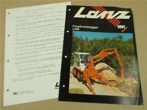 Prospekt IBH Lanz LNB Friedhofsbagger 30 PS 1979