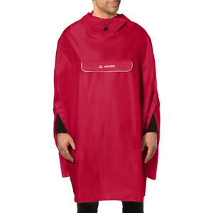 Vaude Valdipino Biking Rain Poncho - Red