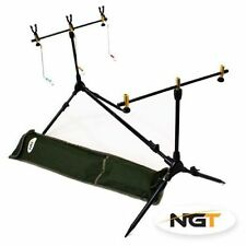 NGT SESSION COMPLETE ADJUSTABLE POD CARP  FISHING RESTS INDICATORS BUZZ BARS NEW