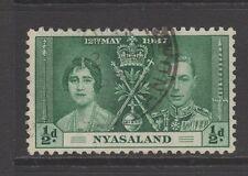 NYASALAND 1937 CORONATION 1/2d GREEN Fine Used