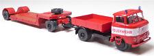 H0 IFA W 50 L / ZM Zugmaschine Lastpritsche Tieflader TL 12 Feuerwehr # 14105550