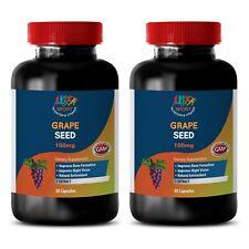 bone health vitamins - GRAPE SEED EXTRACT 100mg - potent antioxidants 2 Bottles