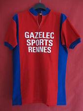 Maillot cycliste Vintage Gazelec Sport Rennes rouge années 70'S Vélo - 3 / M