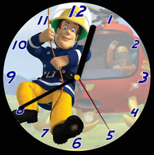 Fireman Sam CD Clock, free stand can be personalised