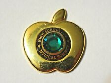 Medical Science ~ High School For Medical Science W/ Green Rhinestone Pin