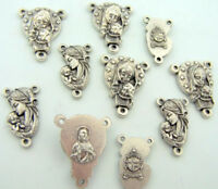 Blessed Virgin Mother Mary Madonna Rosary Repair Centerpiece Kit, Lot of 10